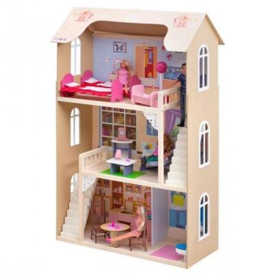 Кукольный домик Шарм, для кукол до 30 см (16 предметов мебели, 2 лестницы) кукольный домик paremo милана с 15 предметами мебели