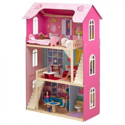 Кукольный домик Вдохновение, для кукол до 30 см (16 предметов мебели, 2 лестницы) кукольный домик paremo милана с 15 предметами мебели