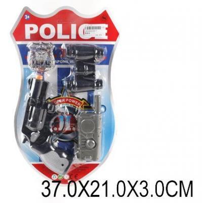Набор оружия Наша Игрушка Полицейский черный 42939