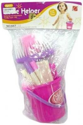 Купить Набор Наша Игрушка Чистюля 667-18, розовый, Детская бытовая техника
