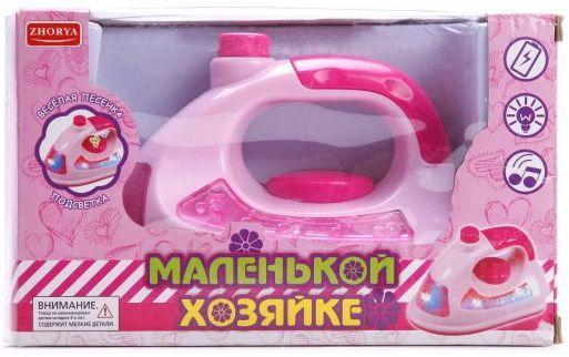 Купить Утюг Наша Игрушка Утюг со звуком и светом ZYA-00142, розовый, Детская бытовая техника