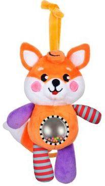 Музыкальная подвеска-погремушка с зеркальцем Лисенок игрушка подвеска лисенок