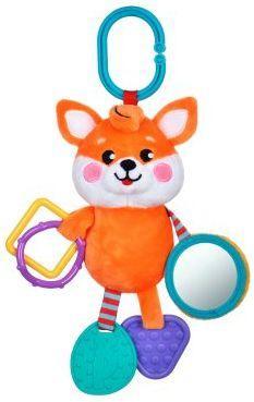 Подвеска с силиконовым прорезывателем и зеркальцем Лисенок подвесные игрушки жирафики с силиконовым прорезывателем и зеркальцем котик