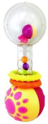 Функциональная погремушка  Звонкая гантелька с шариками погремушки стеллар гантелька прозрачная