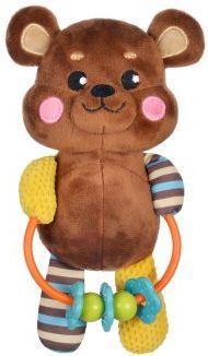Развивающая игрушка с погремушками Мишка жирафики развивающая игрушка мишка с погремушками