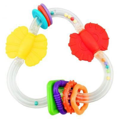 Функциональная погремушка-прорезыватель Цвет и форма стеллар погремушка дудочка стеллар