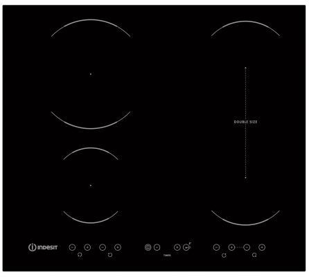 Варочная панель электрическая Indesit VID 641 B C черный цена и фото