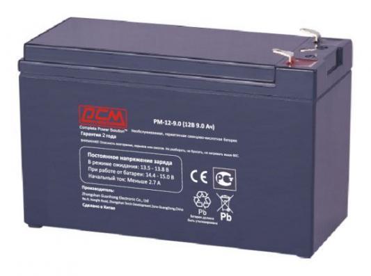 Батарея Powercom PM-12-9.0 12Вт 9Ач батарея delta dtm 1209 9ач 12b