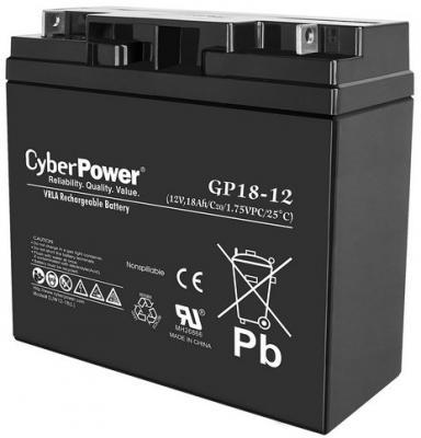 все цены на Батарея CyberPower 12V 18Ah GP18-12