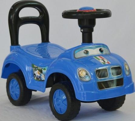Каталка на шнурке Наша Игрушка Машина-каталка Авторалли синий от 3 лет пластик Q09-1/BLUE