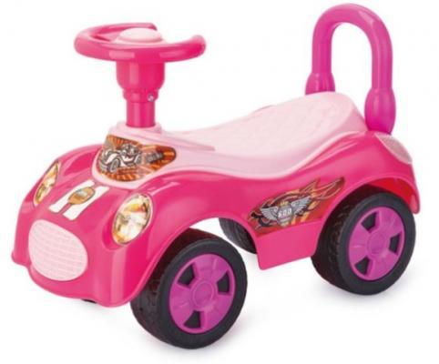 Каталка-машинка Наша Игрушка Машина-каталка Вояж розовый от 3 лет пластик EBL8203/PINK