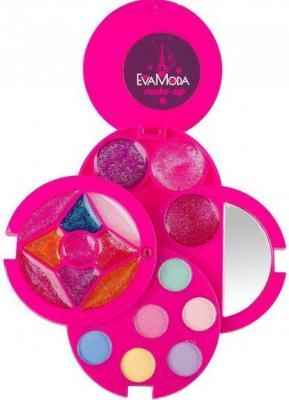 Набор детской декор. косметики Eva Moda, BOX 24,5*16,5*3,5 см. косметичка Круглая с зеркальцем