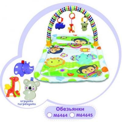 Купить Коврик игровой Обезьянки, 3 игрушки, кор., Наша Игрушка, Развивающие центры для малышей