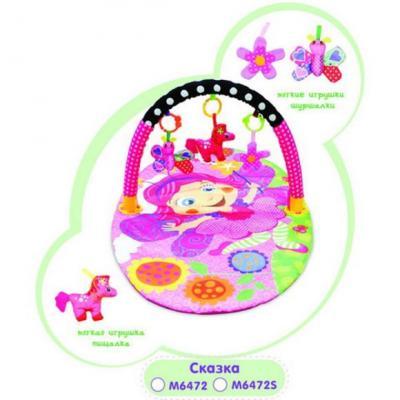 Купить Коврик игровой Сказка, 3 игрушки, кор., Наша Игрушка, Развивающие центры для малышей