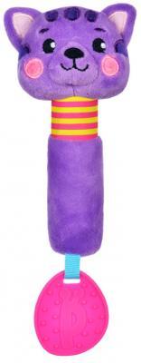 Пищалка-прорезыватель Жирафики Котик разноцветный с 3 месяцев пищалка пищалка с погремушками жирафики слонёнок тим с 1 месяца пищалка разноцветный 93568
