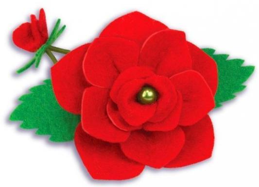 Набор для тв-ва украшение для волос Роза из фетра
