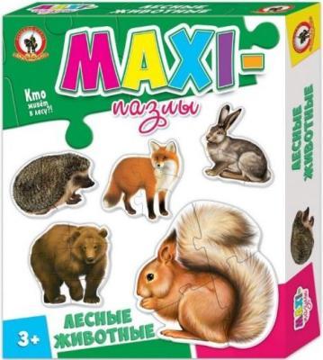 Пазлы Макси Лесные животные игнатова а лесные животные