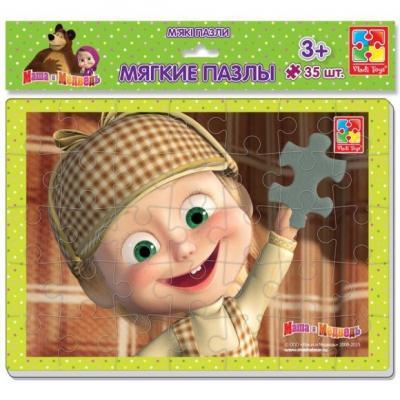 Пазлы мягкие А4 Маша и медведь 35 эл. Маша Шерлок Холмс пазлы vladi toys мягкие пазлы baby puzzle макси маша и медведь