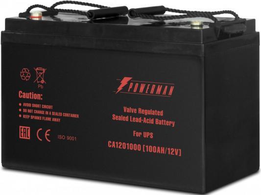 Батарея Powerman CA121000 12V/100AH батарея powerman ca12120 ups 12v 12ah