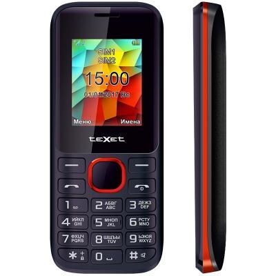 Телефон Texet TM-129 черный красный 1.77 32 Мб
