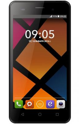 Смартфон BQ BQS-5020 Strike черный 5 8 Гб Wi-Fi GPS 3G смартфон bqs 5050 strike selfie grey mediatek mt6580 1 3 8 gb 1 gb 5 1280x720 dualsim 3g bt android 6 0