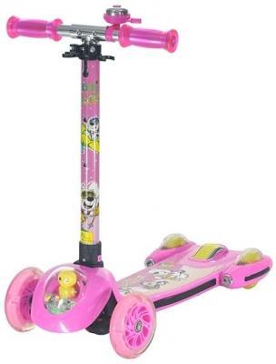 Купить Самокат Lionmen Аrctic 120/110 мм розовый XLM-928, Двухколесные самокаты для детей