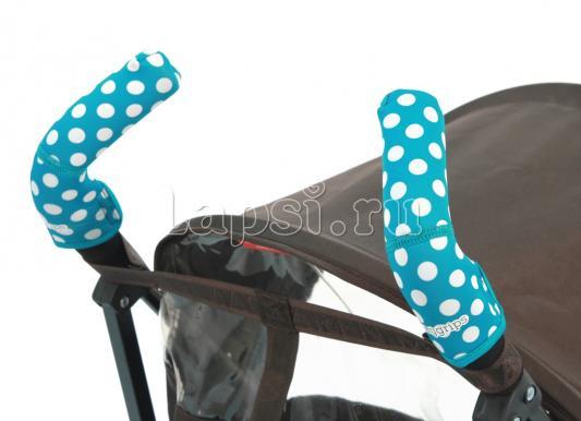 Чехлы Choopie CityGrips на ручки для коляски-трости(369 polka-dot aqua голубой) textured leather polka dot handbag