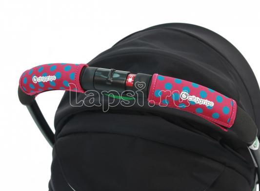 Чехлы Choopie CityGrips на ручки для универсальной коляски(372 polka-dot pink розовый) plus size polka dot pussy bow shirt dress