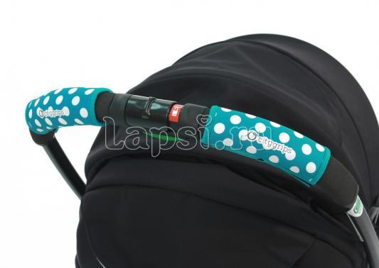 Чехлы Choopie CityGrips на ручки для универсальной коляски(370 polka-dot aqua голубой) чехлы choopie citygrips на ручки для коляски трости 369 polka dot aqua голубой