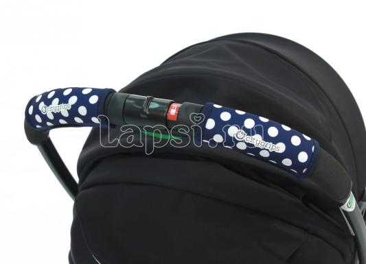 Чехлы Choopie CityGrips на ручки для универсальной коляски(368 polka-dot navy синий) plus polka dot self belted surplice wrap asymmetrical ruffle dress