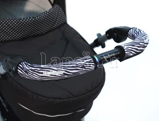 Чехлы Choopie CityGrips на ручки для универсальной коляски длинные(510 Zebra серый) чехлы choopie citygrips на ручки для универсальной коляски длинные 502 zigzag color красный