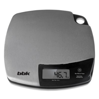 Весы кухонные BBK KS153M серебристый чёрный сэндвичница bbk es027 чёрный