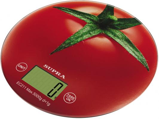 Весы кухонные Supra Томат BSS-4300 рисунок