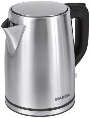 Чайник Marta MT-1092 2200 Вт черный жемчуг 2 л нержавеющая сталь мультиварка marta mt 4314 темный агат