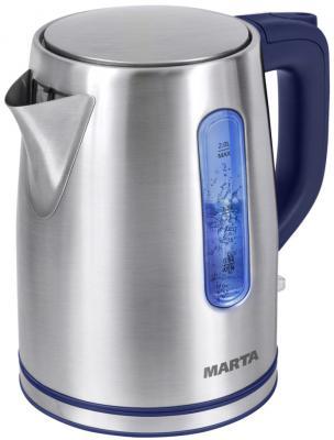 все цены на Чайник Marta MT-1093 2200 Вт синий сапфир 2 л нержавеющая сталь онлайн