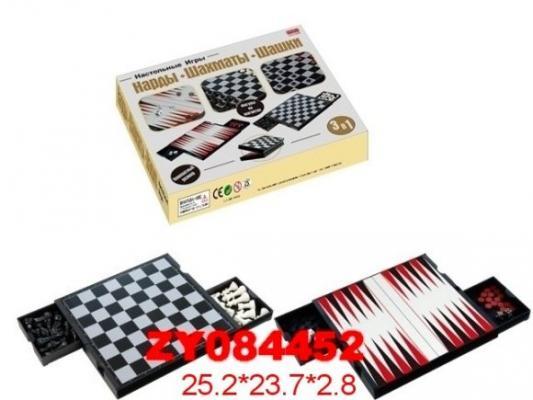 НИ 3в1 Шашки, шахматы, нарды на магнитах, 23*25см, кор.