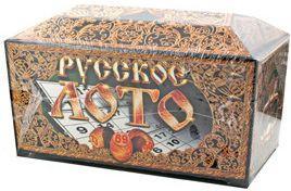 Купить Настольная игра Десятое королевство лото Русское лото в подарочной упаковке 00142, 20х15х15 см, Лото, домино, шашки и шахматы