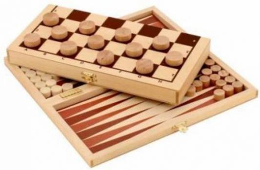 Купить Игра Два в одном Шашки+Нарды деревянные, Пелси, 28X14X3 см, Лото, домино, шашки и шахматы