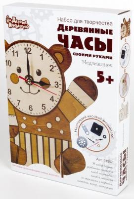 Купить Набор для творчества Десятое королевство Деревянные часы Медвежонок от 5 лет 1957, Ассорти наборов для творчества