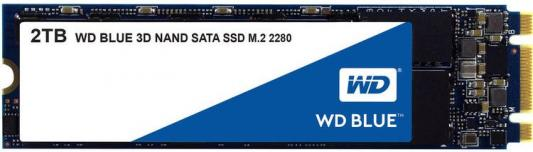 Твердотельный накопитель SSD M.2 2Tb Western Digital Blue Read 560Mb/s Write 530Mb/s SATAIII WDS200T2B0B твердотельный накопитель ssd m 2 250gb western digital blue read 550mb s write 525mb s sataiii wds250g2b0b