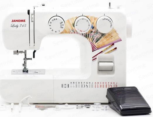 Швейная машинка Janome Lady 745 белый швейная машинка janome hd1800