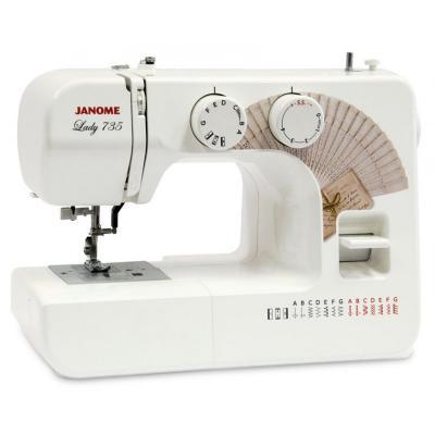 Швейная машинка Janome Lady 735 белый швейная машинка janome dresscode