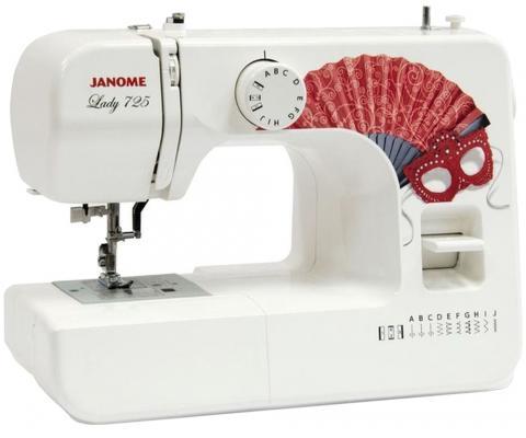 Швейная машинка Janome Lady 725 белый швейная машинка janome px23