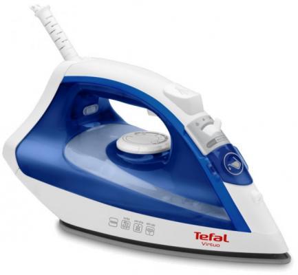 Утюг Tefal Virtuo FV1711 1800Вт синий белый утюг tefal gv8977 2400вт белый синий