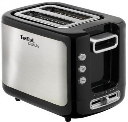 Тостер Tefal TT365031 серебристый чёрный