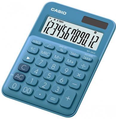 Калькулятор бухгалтерский CASIO MS-20UC-BU 12-разрядный синий