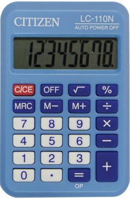 Калькулятор карманный Citizen LC-110N 8-разрядный голубой