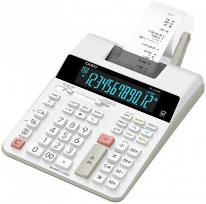 Калькулятор печатающий CASIO FR-2650RC-W-EC 12-разрядный серый/белый
