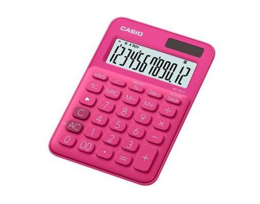 Калькулятор настольный CASIO MS-20UC-RD-S-EC 12-разрядный красный калькулятор casio hr 150rce wa ec 12 разрядный черный