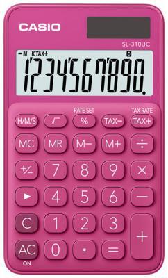 Калькулятор карманный CASIO SL-310UC-RD 10-разрядный красный калькулятор карманный casio hl 820lv 8 разрядный